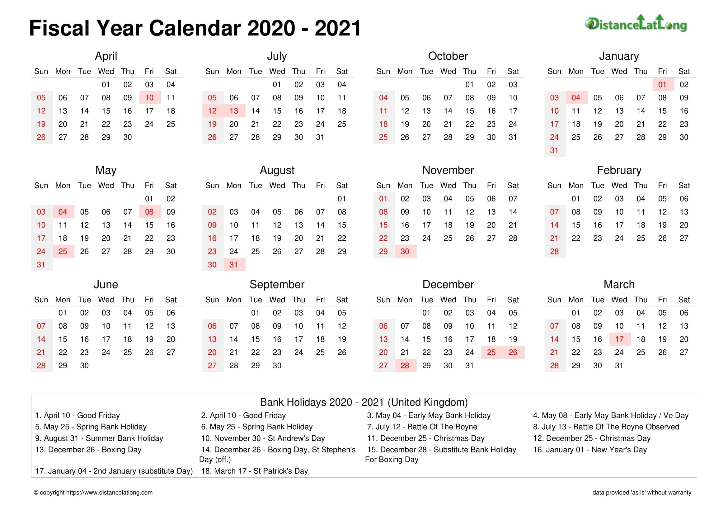 How Many Days In 2021 Financial Calendar 2021 2021