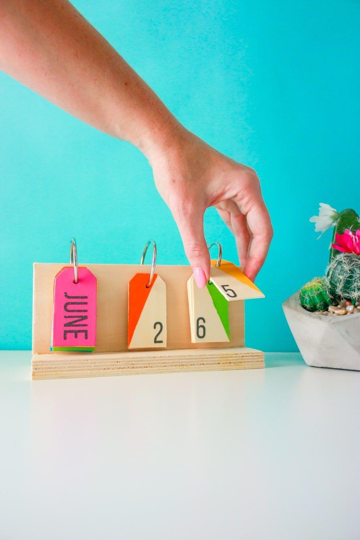 How To Make A Perpetual Calendar A Colorful Desktop