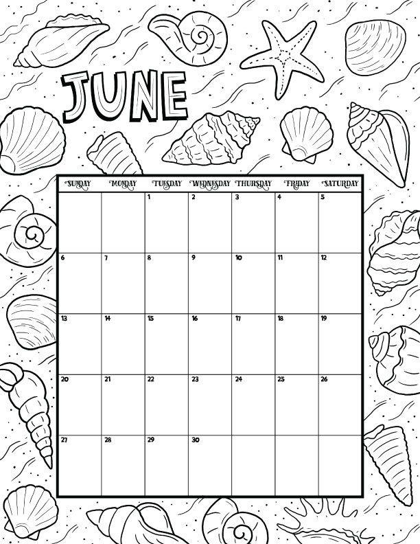 june calendar 2021 coloring pages calendar for 2021