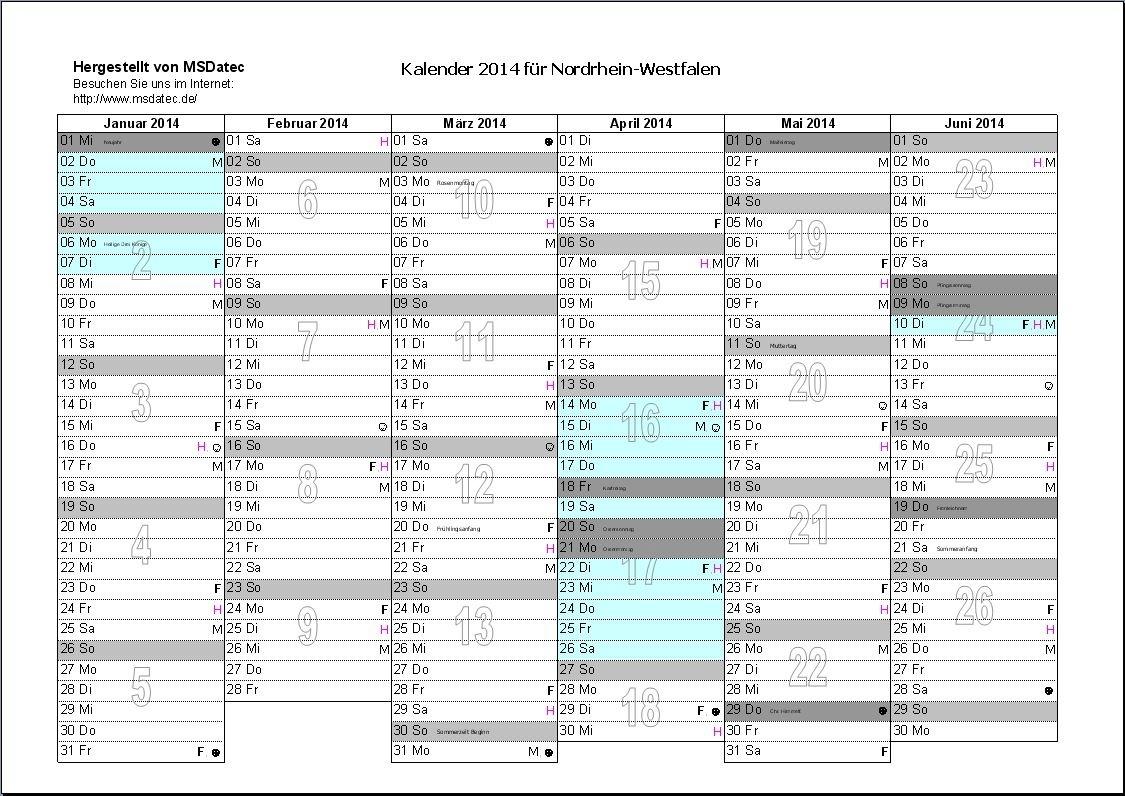 Kalender Excel Download