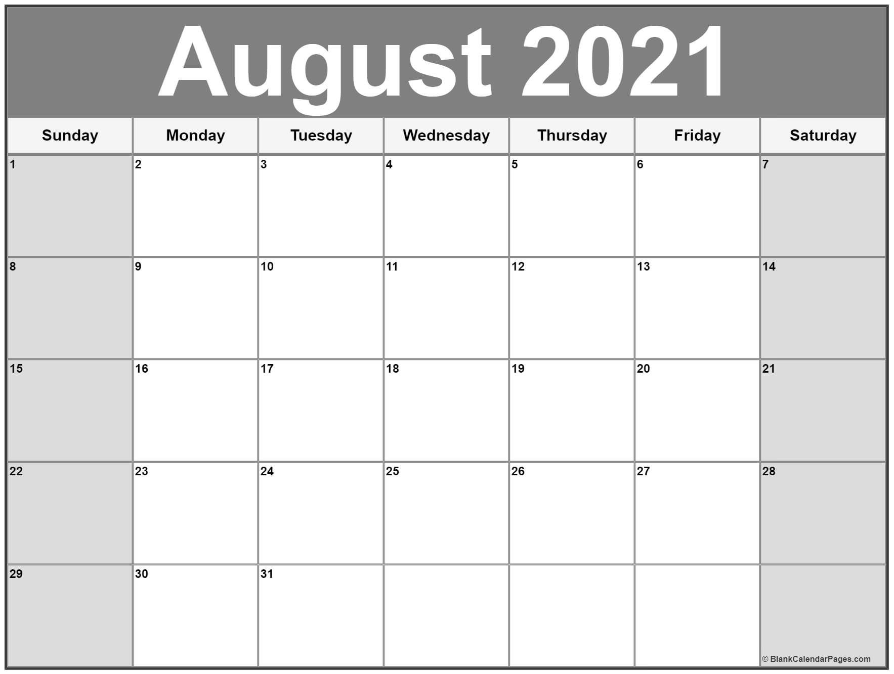 Large Number 2021 Free Calendar | Calendar Printables Free