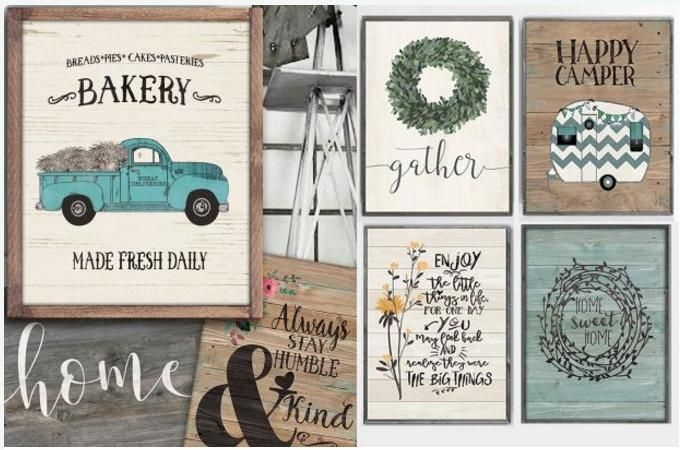 large rustic farmhouse prints only $4 37! freebies2deals
