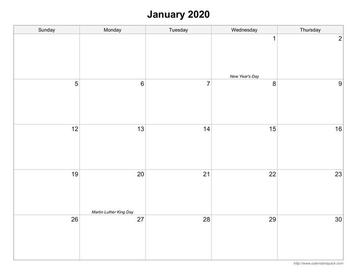 large square calendar printable photo   calendar template 2020