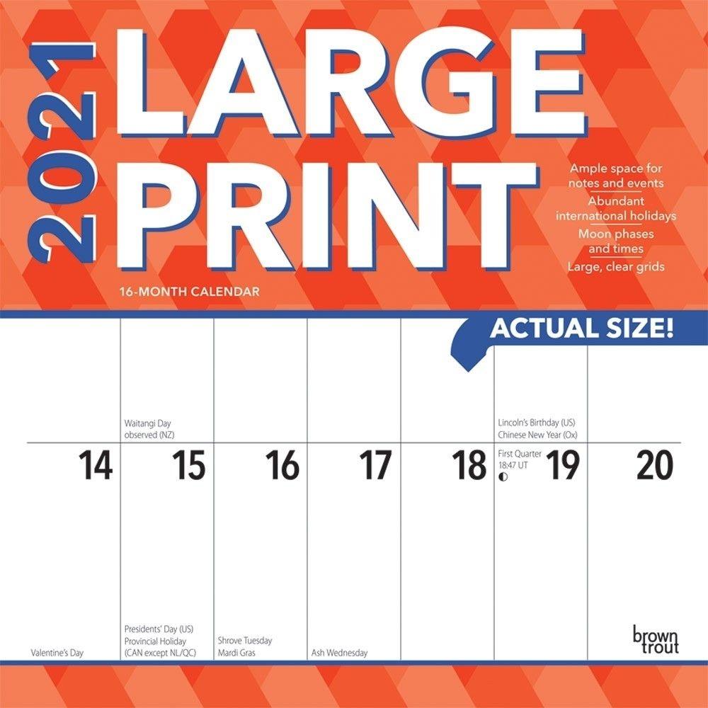 Large Wall Calendar 2021 | Avnitasoni