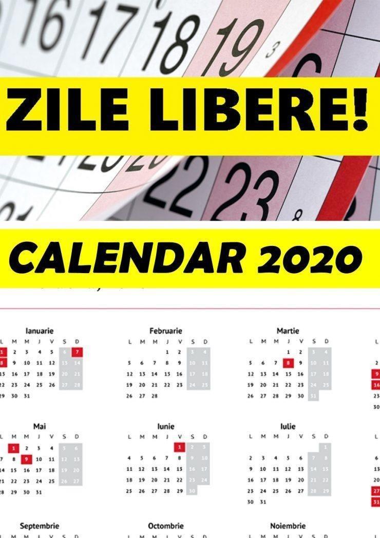lista zilelor libere din 2020 multe vor pica În timpul