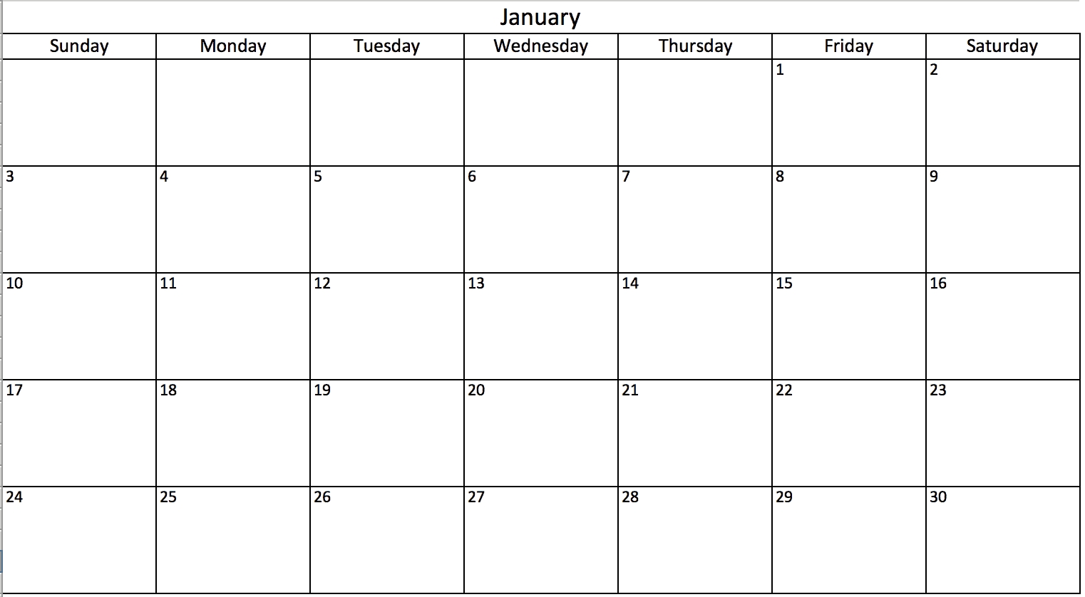 make a 2018 calendar in excel (includes free template)