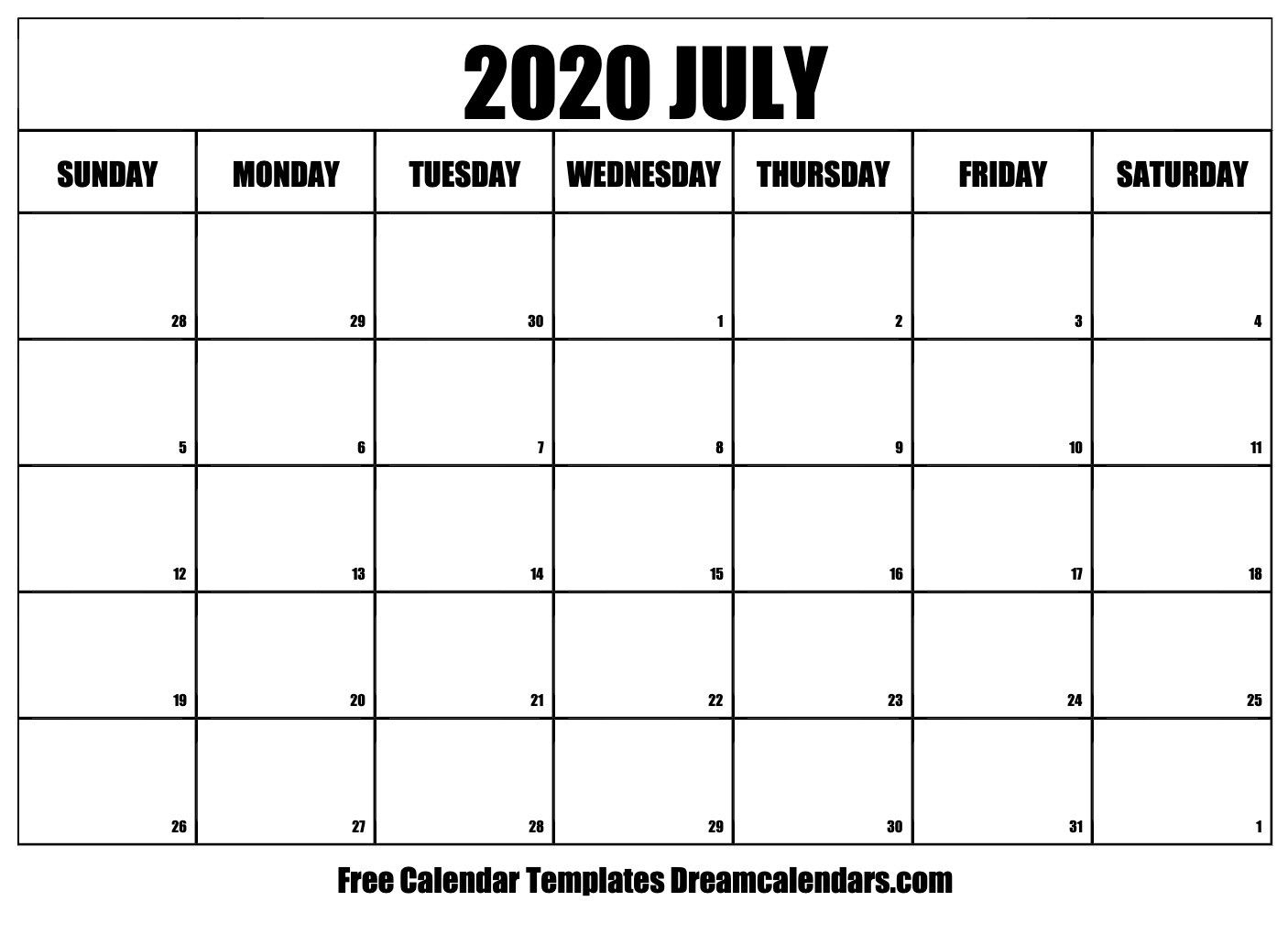 monday through friday monthly calendar | ten free