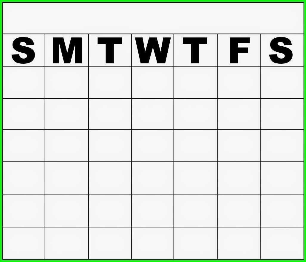 monday thru sunday calendars : free calendar template