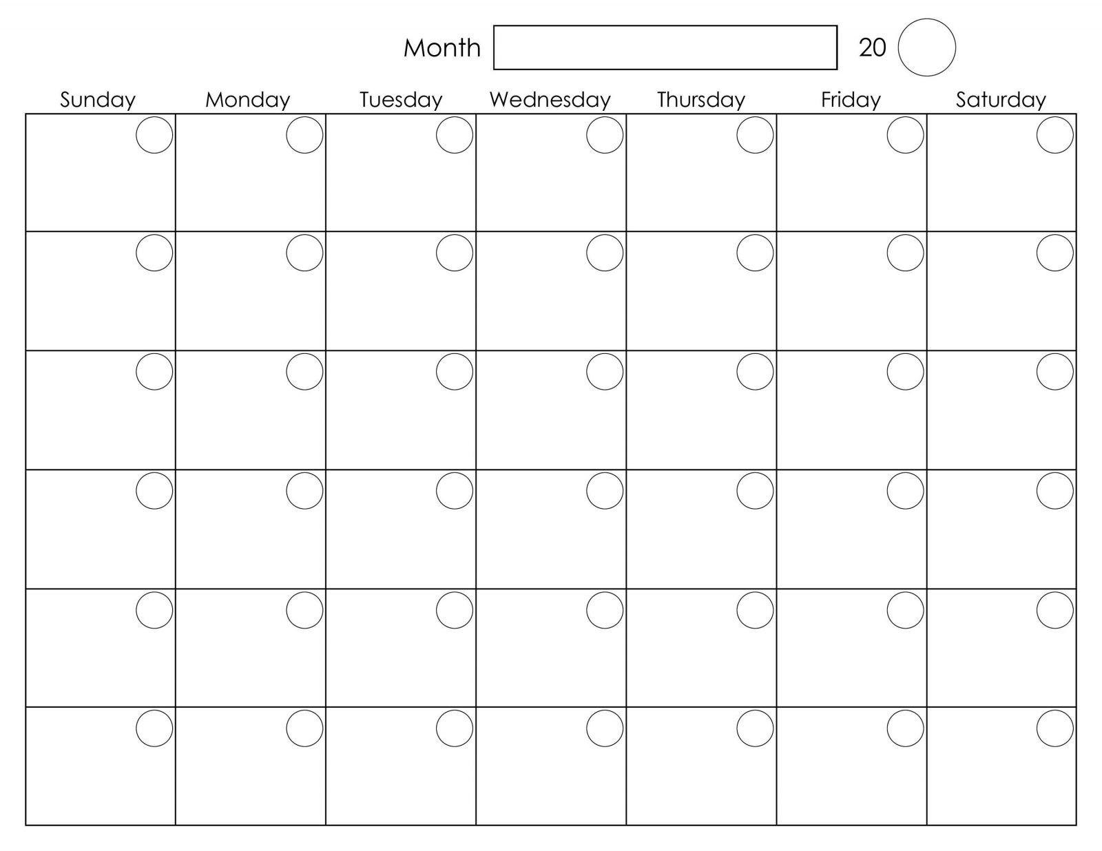 Monday To Friday Weekly Calendar | Ten Free Printable