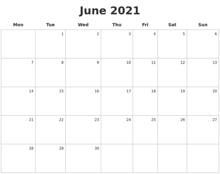 Monday To Sunday Calendar 2021 Full Months Pleasant For