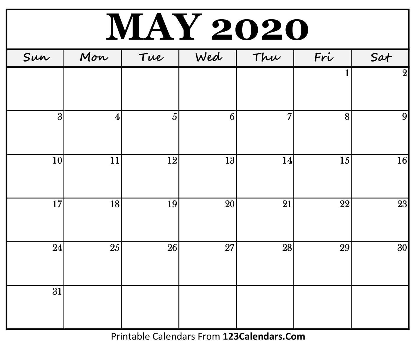 monday to sunday may 2020 template | calendar template