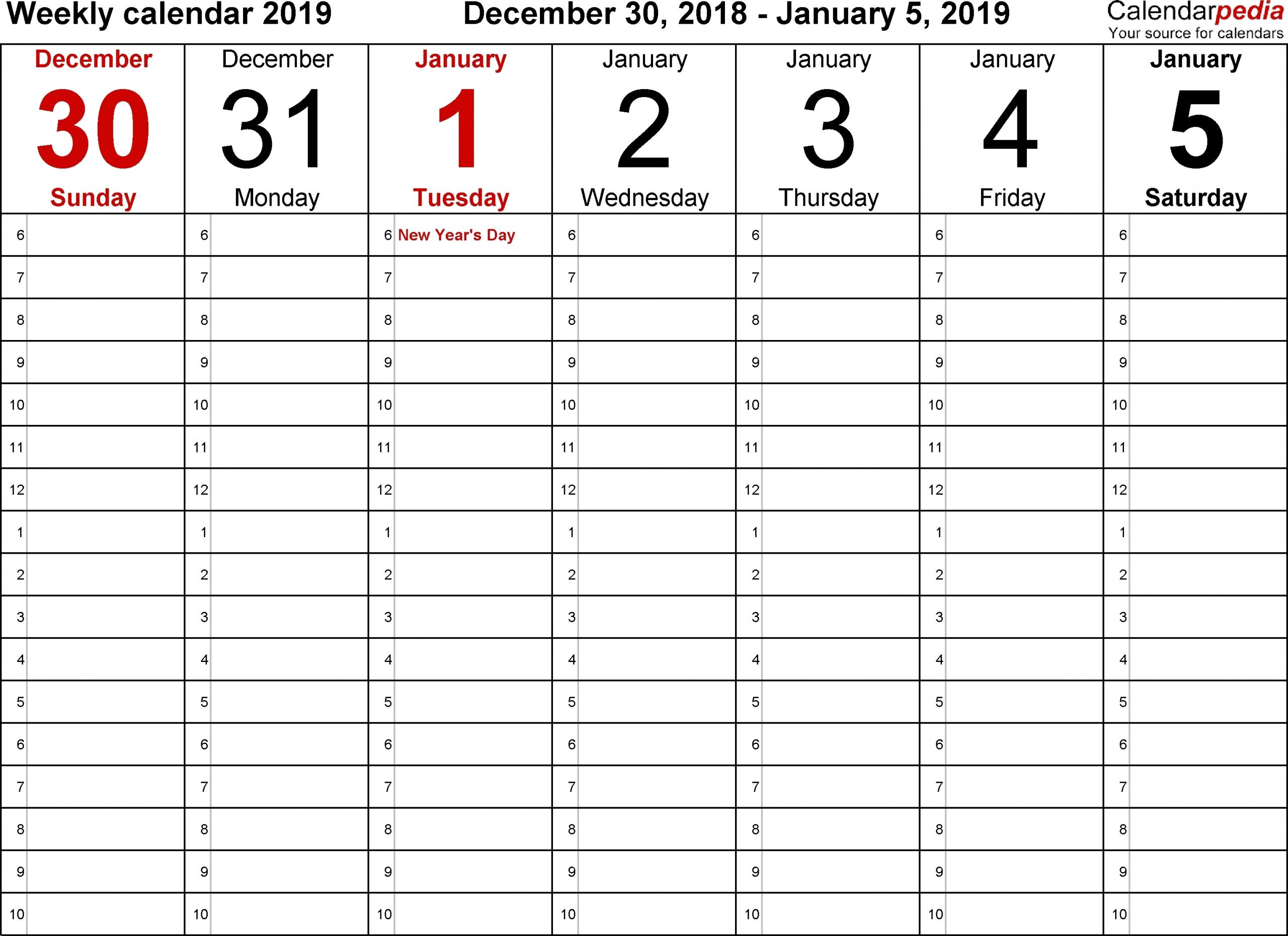 Month Printable Calendar With Time Slots Calendar