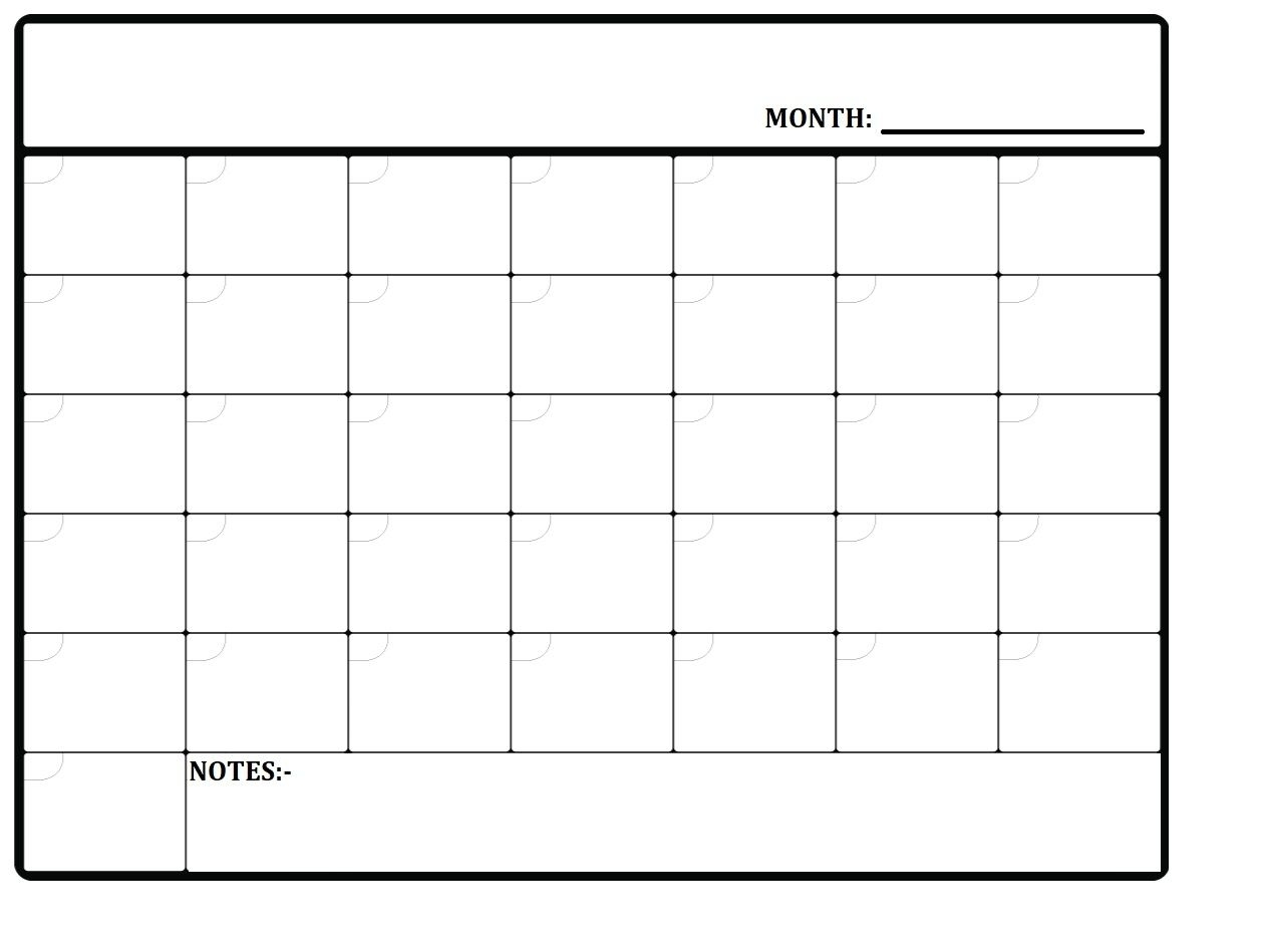 monthly planner you can write in | calendar template 2020