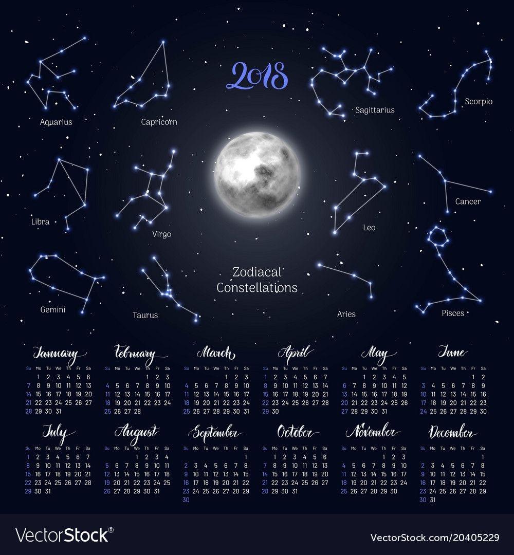 Moon Calendar With Zodiac | Calendar Printables Free Templates