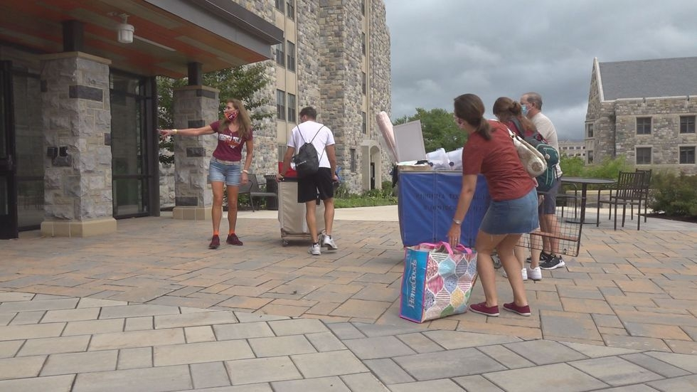 Move In Begins At Virginia Tech
