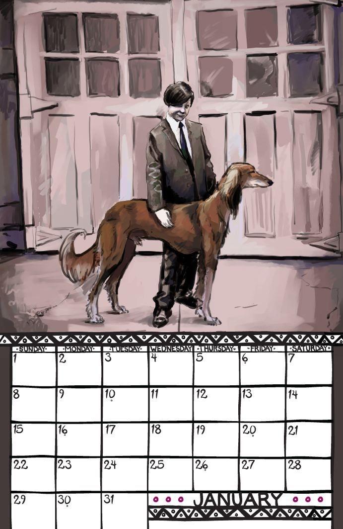 noburbs: saluki calendar 2012 a formal portrait