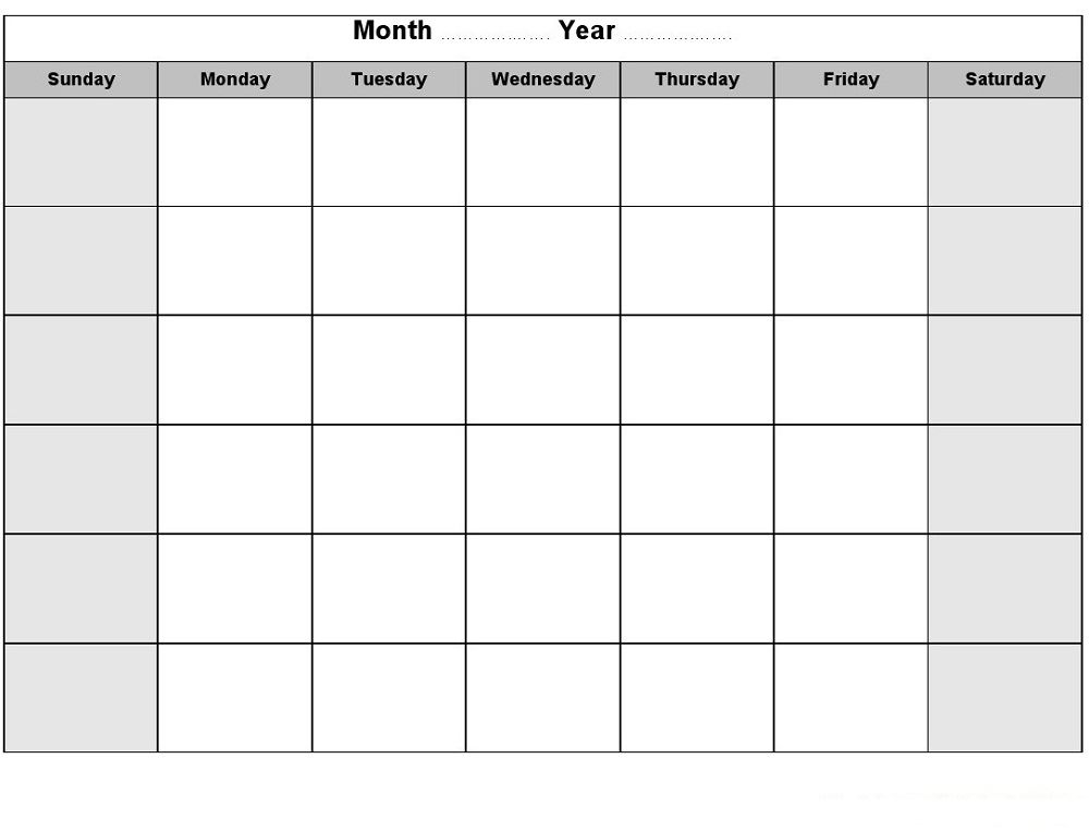 October Calendar With Space To Write Assignments