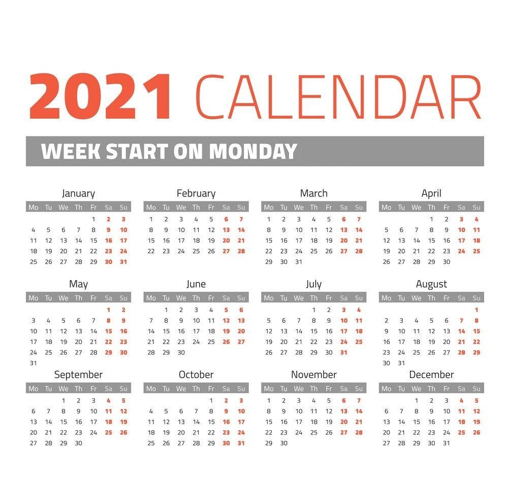One Page 2021 Calendar Printable | Calendar 2021