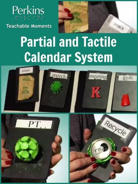 partial and tactile calendar system | visually impaired
