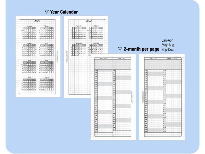 personal 5 year calendar book / 2020 2021 2022 2023 2024