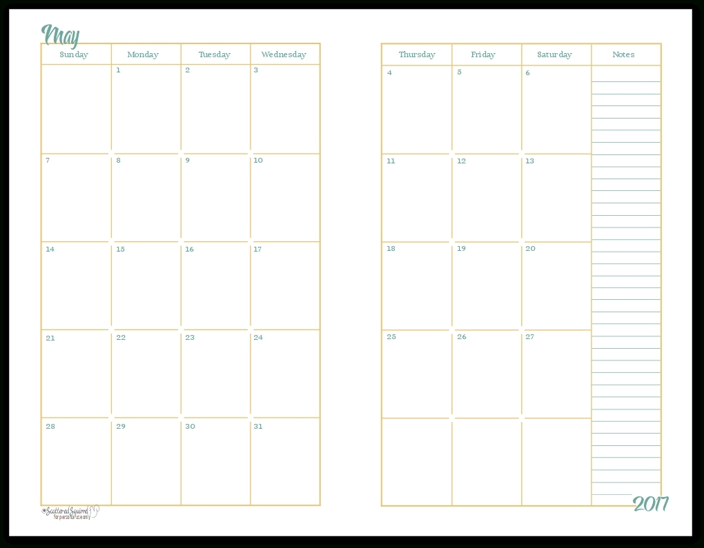 pick half page free monthly calendar printable 2020