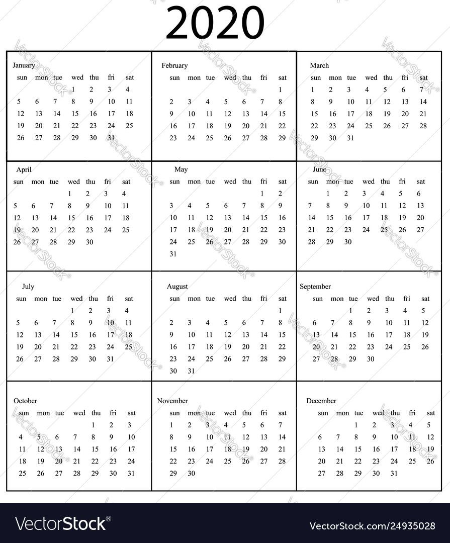 pick monday through friday 2020 calendar template