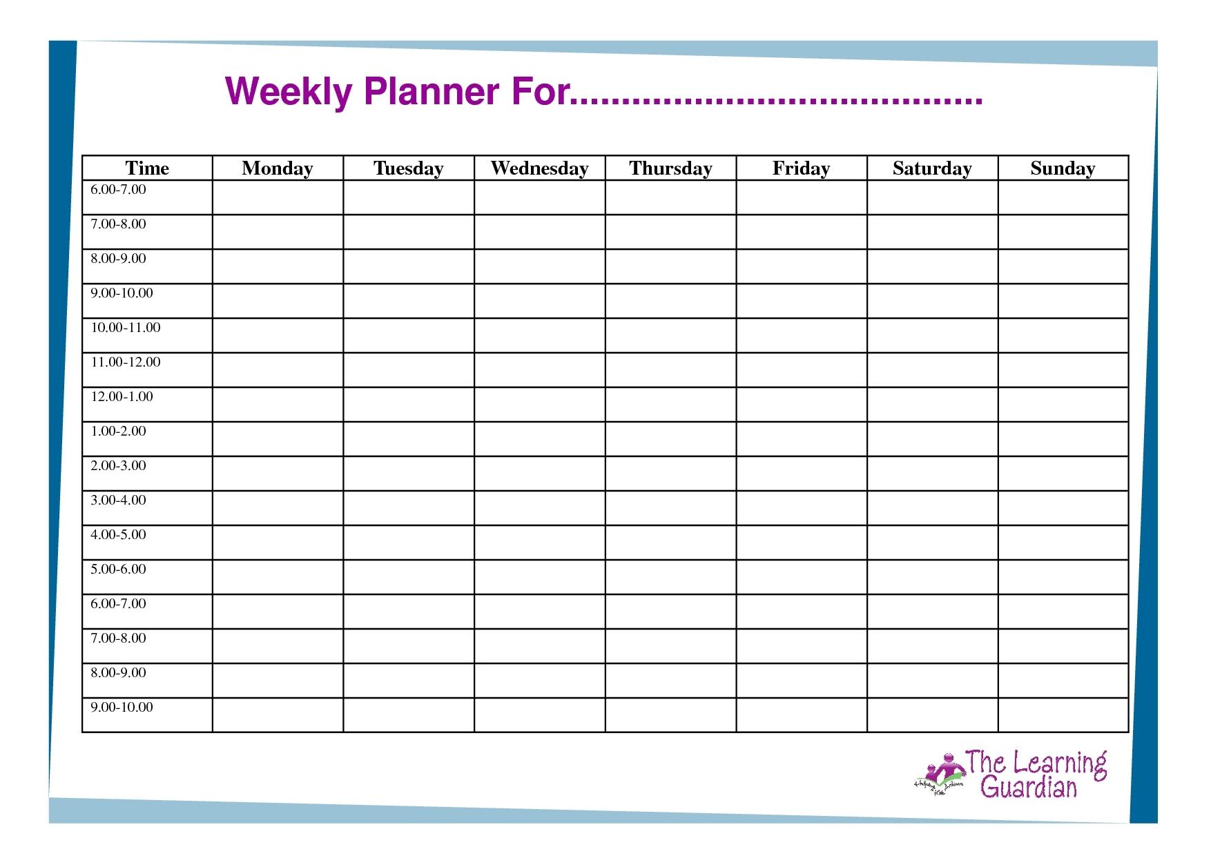 Print Calendar With Time Slots | Calendar Printables Free