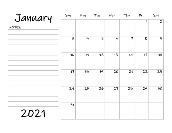 Printable 2021 Blank Calendar Templates Calendarlabs