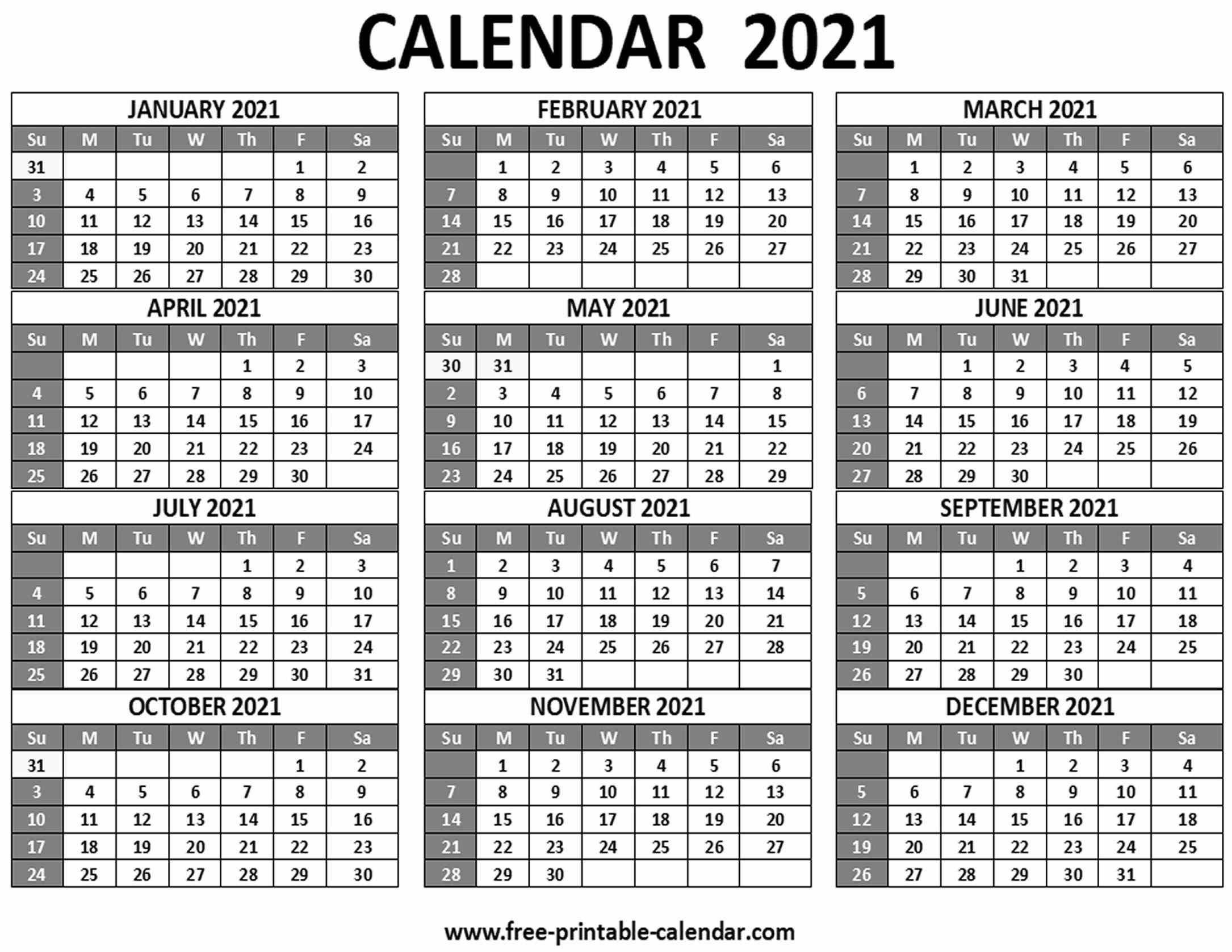 printable 2021 calendar free printable calendar