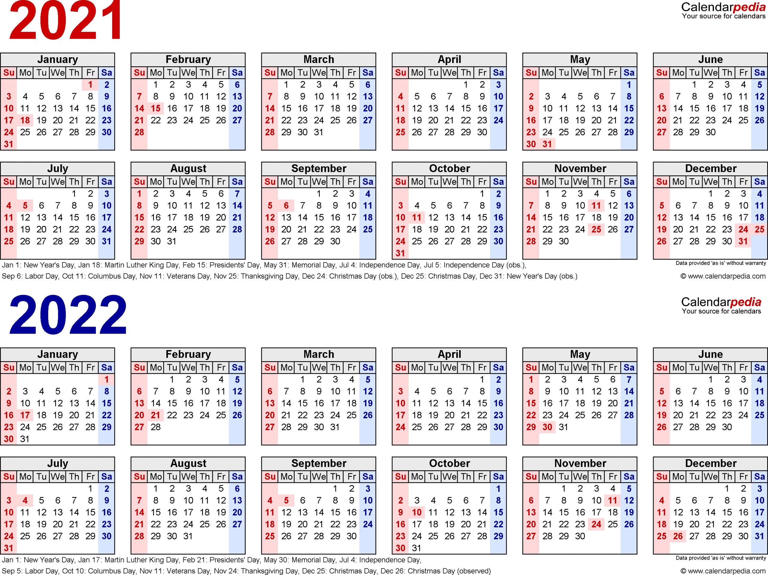 Printable 3 Year Il Caemdar 2020 2022 | Example Calendar