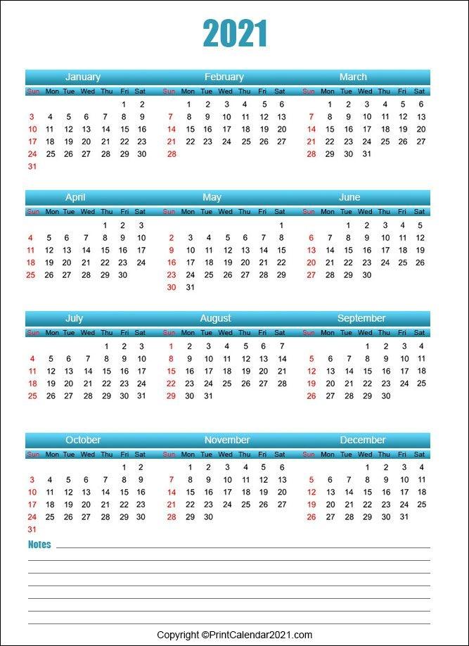 printable 58 2021 calendar 2021 year at a glance