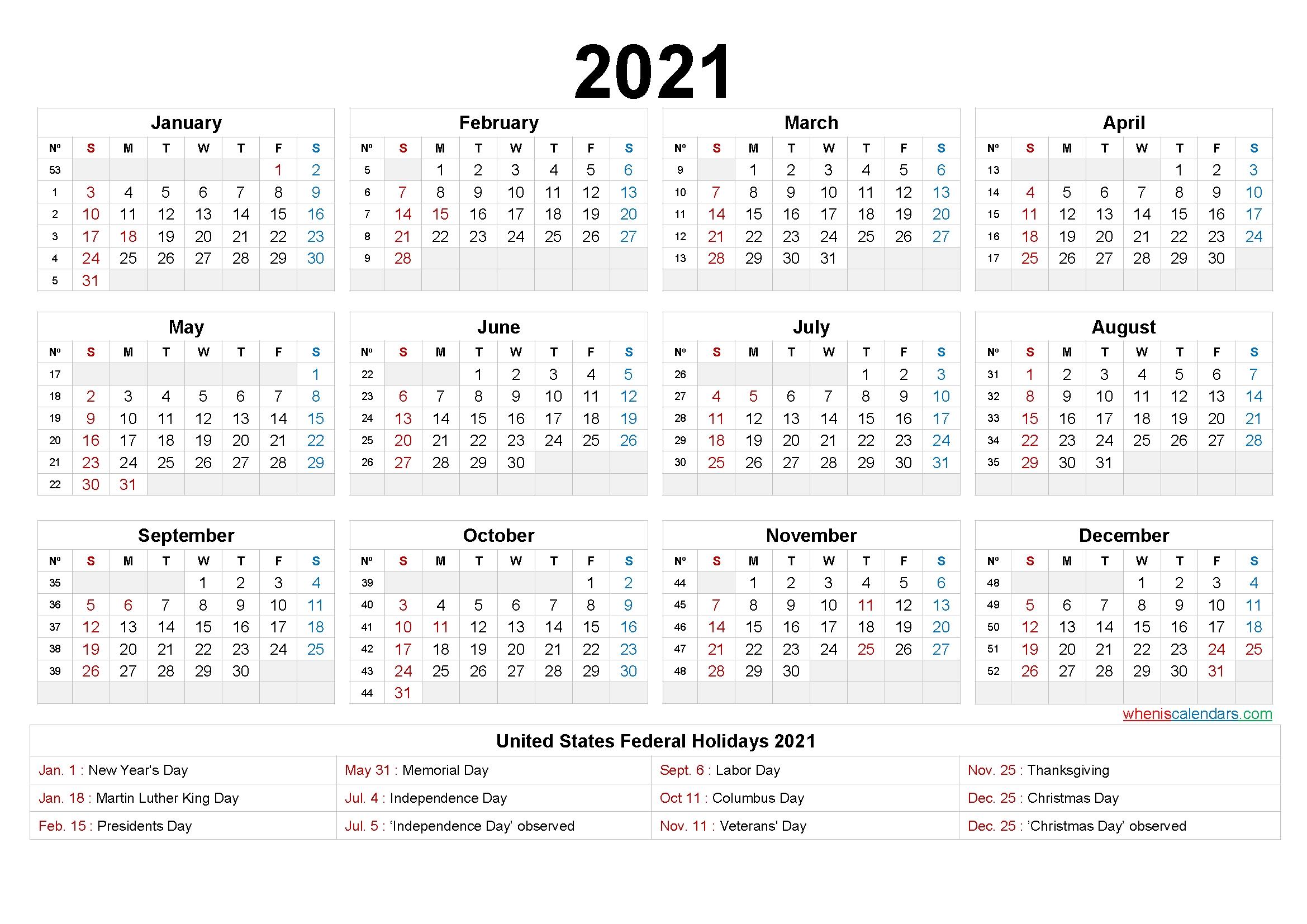 printable 58 2021 calendar 8 5 x 11 2020 yearly