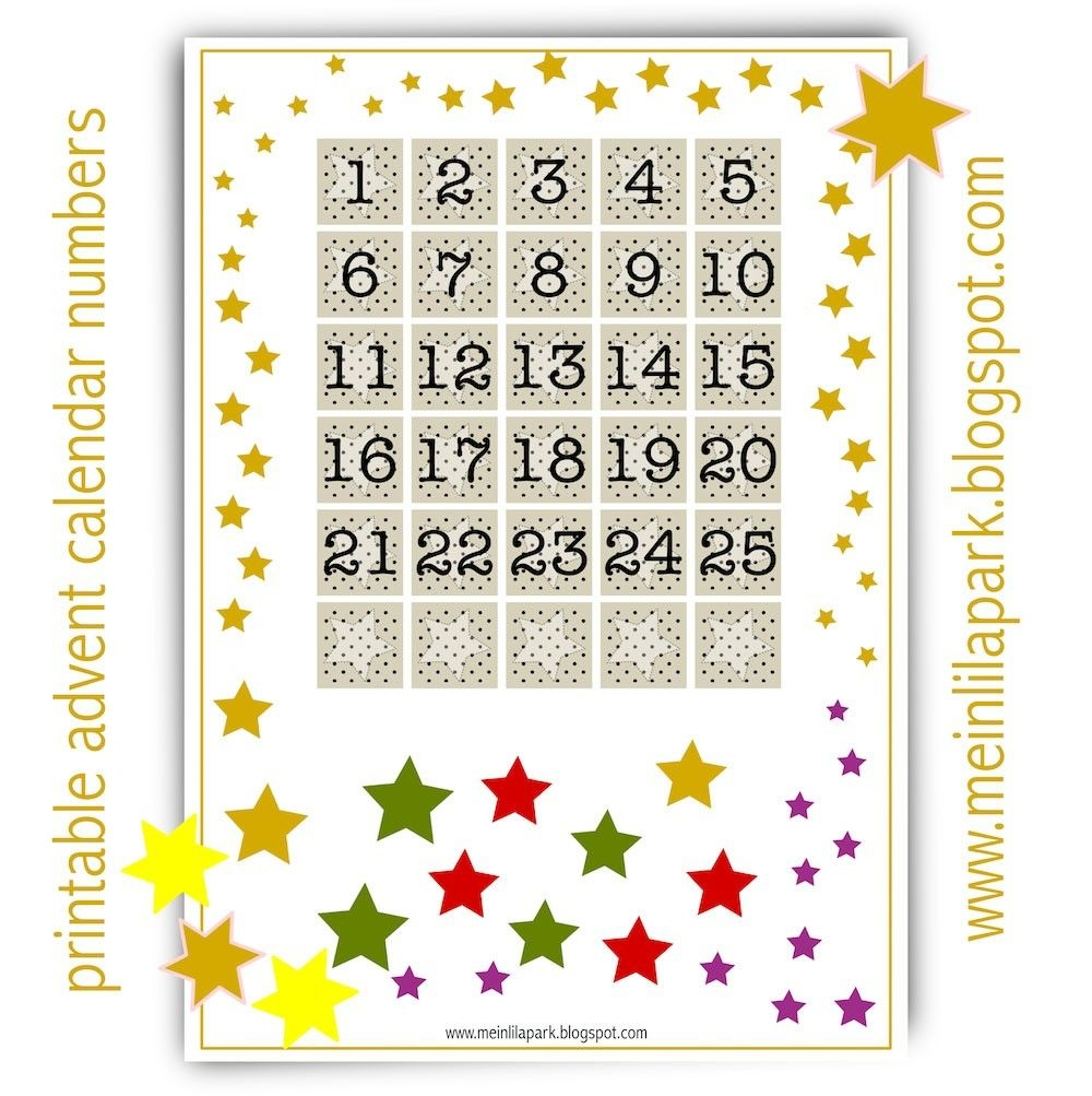 printable advent calendar | get free printable calendar