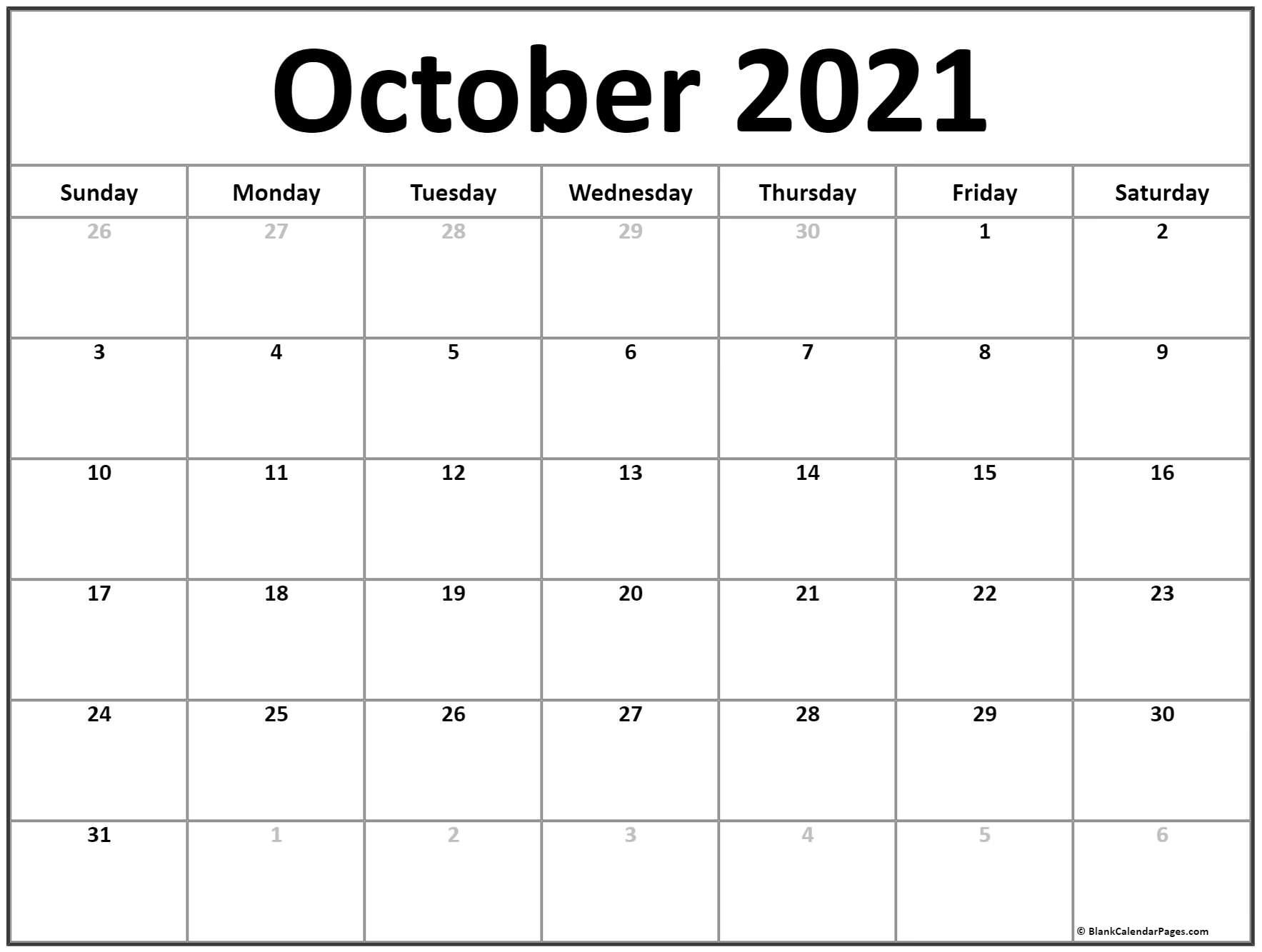 printable blank monthly calendar 2021 with lines | ten