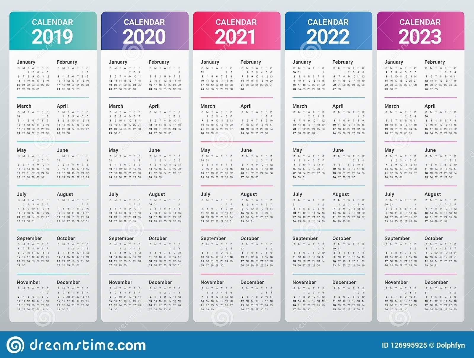 Printable Calendar 2020 2021 2022 2023 Calendar