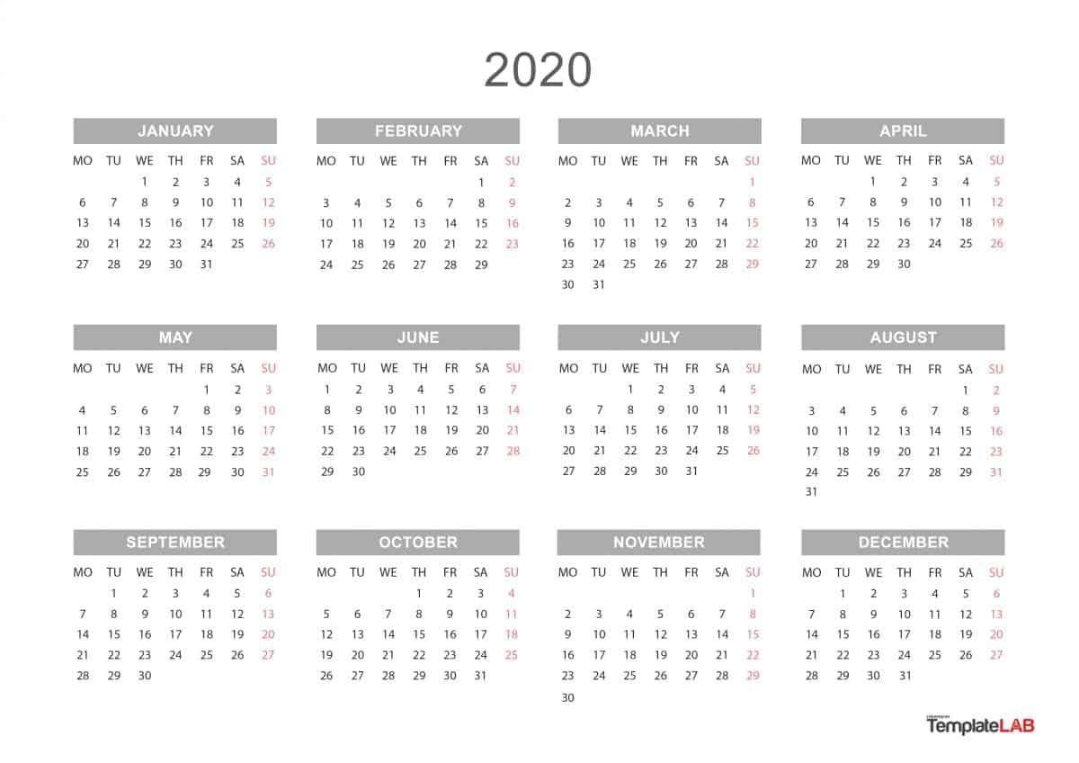 Printable Calendar 2020 That You Can Type In   Calendar