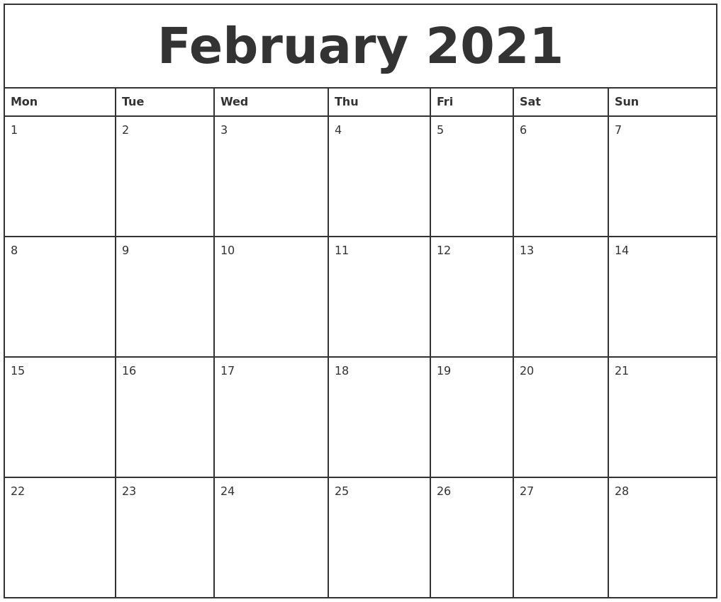 printable calendar 2021 monthly that can be edited