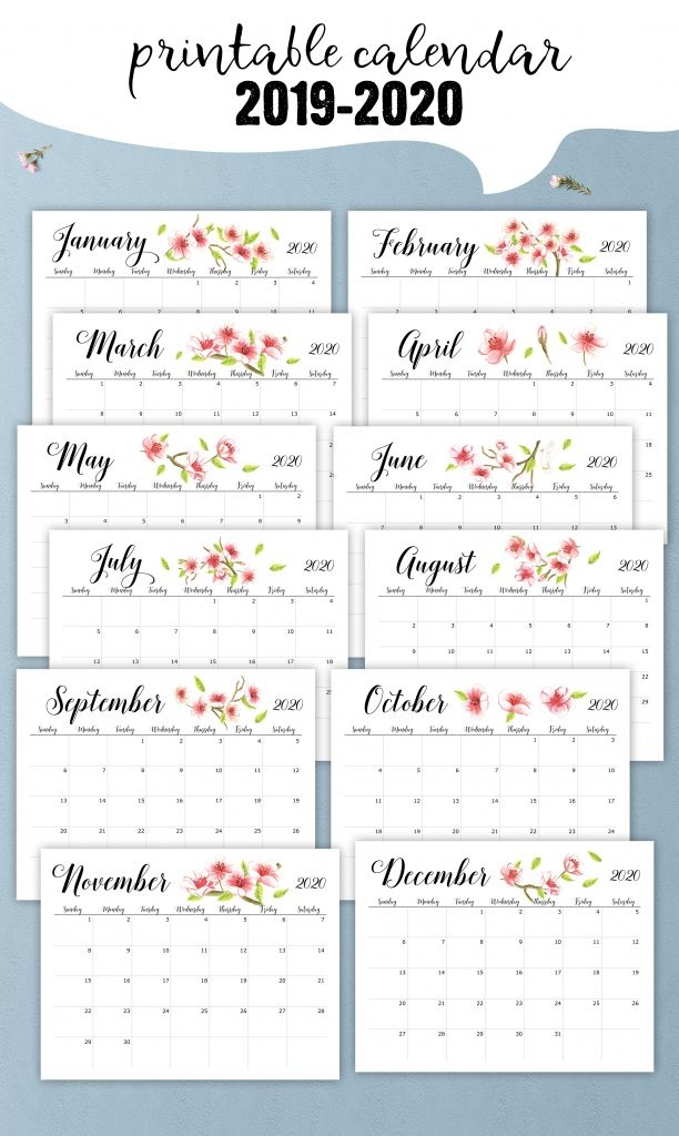 printable calendar numbers to download for teachers