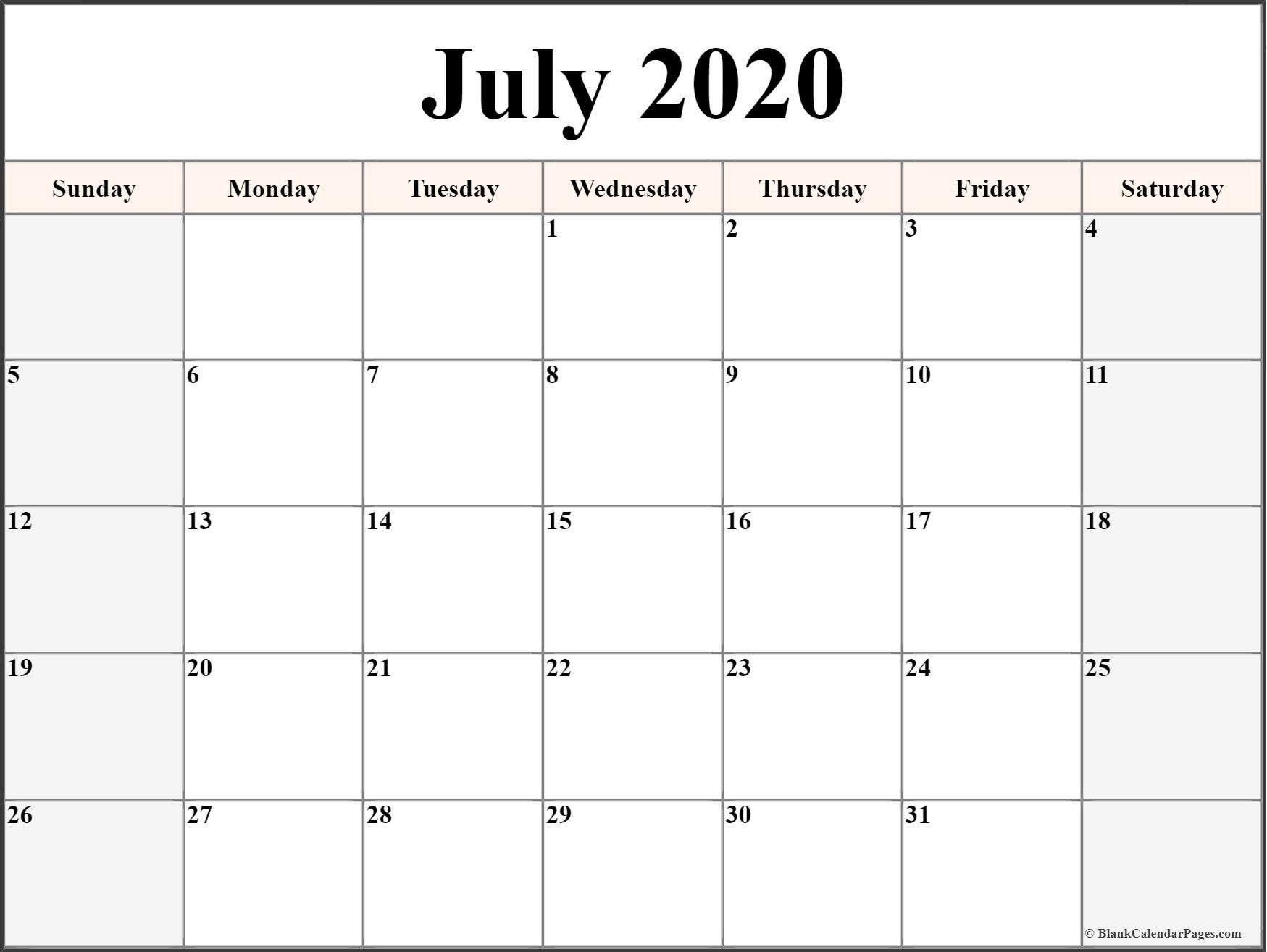 printable calendar templates 2020 in 2020 | printable