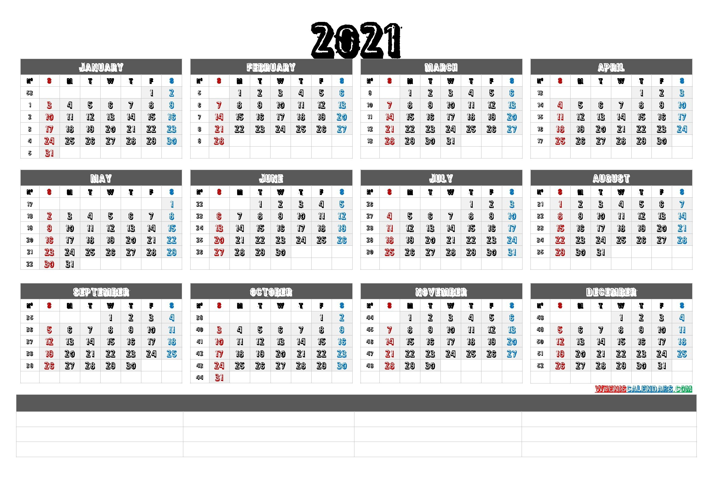 printable calendar templates 2021 calendraex