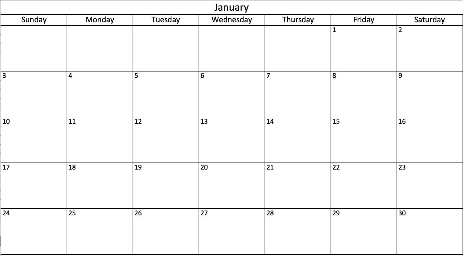 printable calendar to edit | calendar printables free