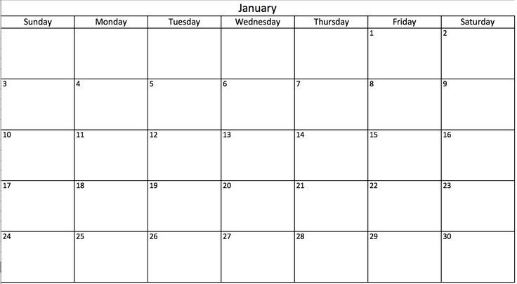 printable calendar you can type into in 2020 | excel