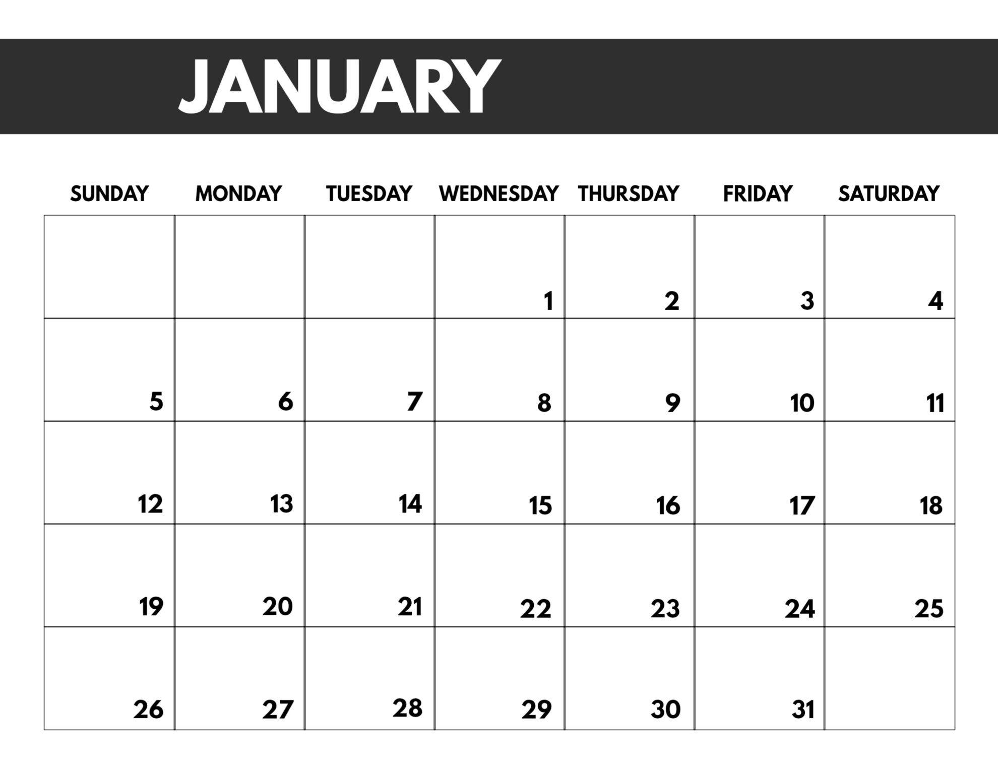 printable calendars large numbers | calendar printables