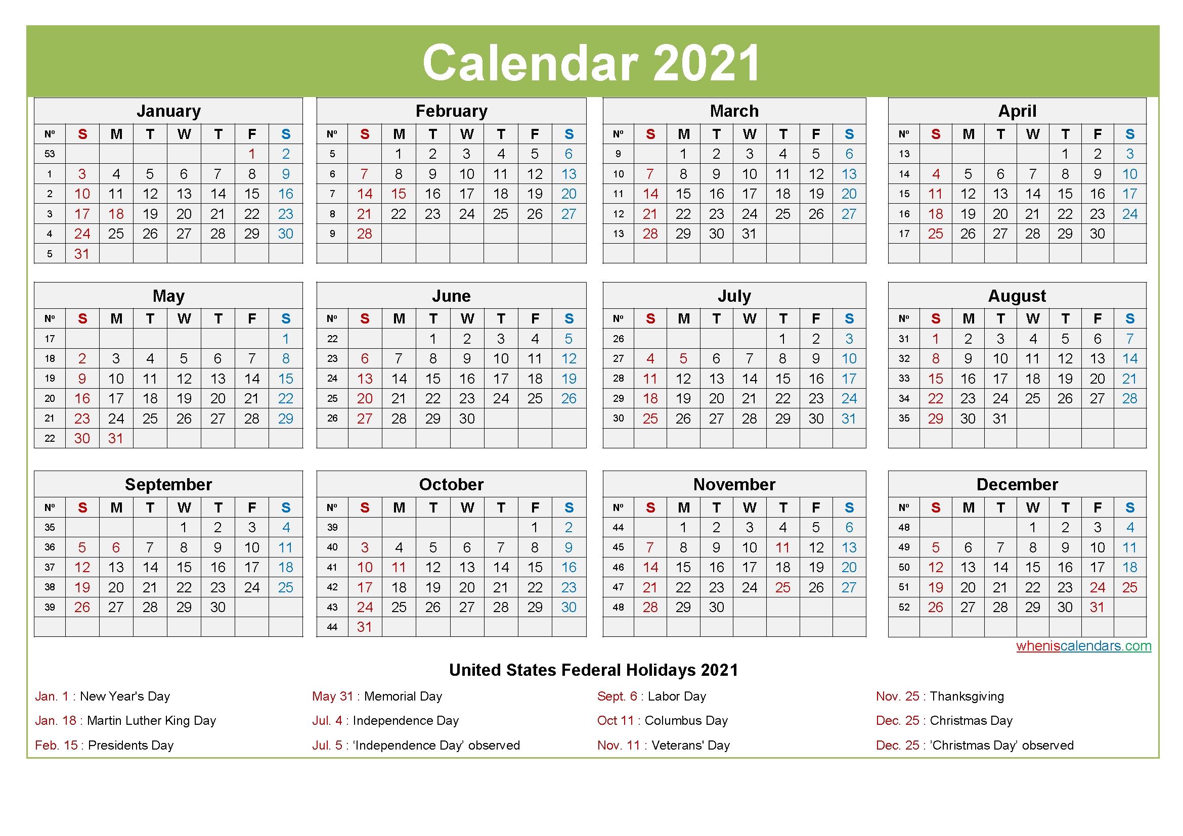 printable editable calendar 2021 template no ep21y28