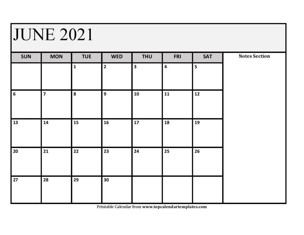 Printable June 2021 Calendar Template Pdf, Word, Excel