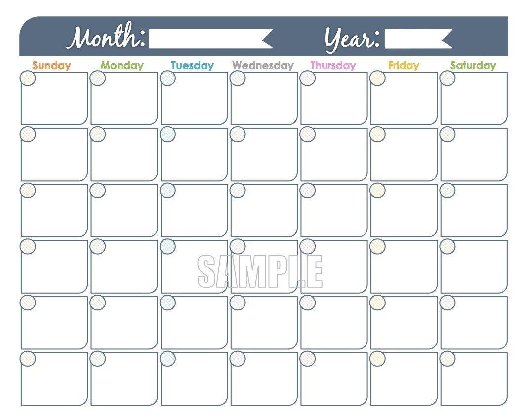 Printable Monthly Calendar That I Can Edit | Calendar