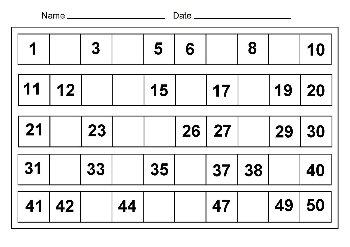printable preschool numbers 1 31 | free calendar template
