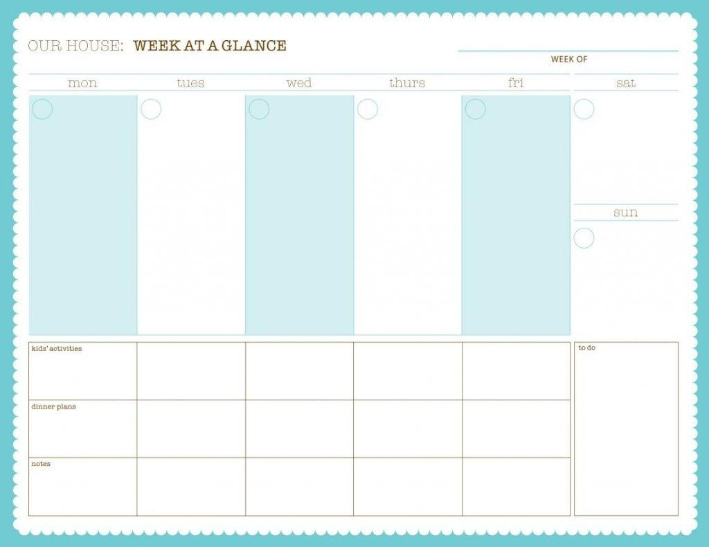 printable week at a glance calendars calendar template 2020