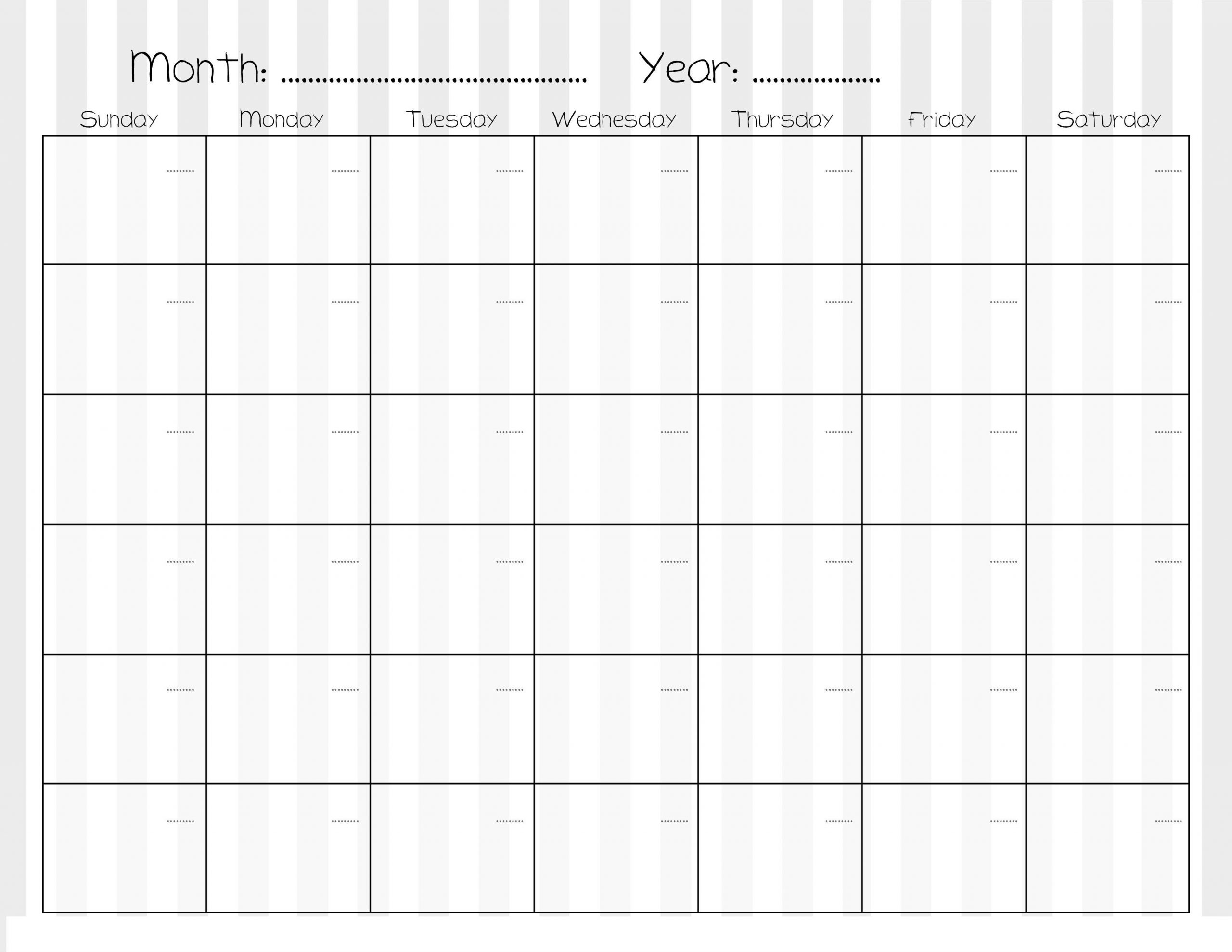 Sample Calendars To Print | Activity Shelter