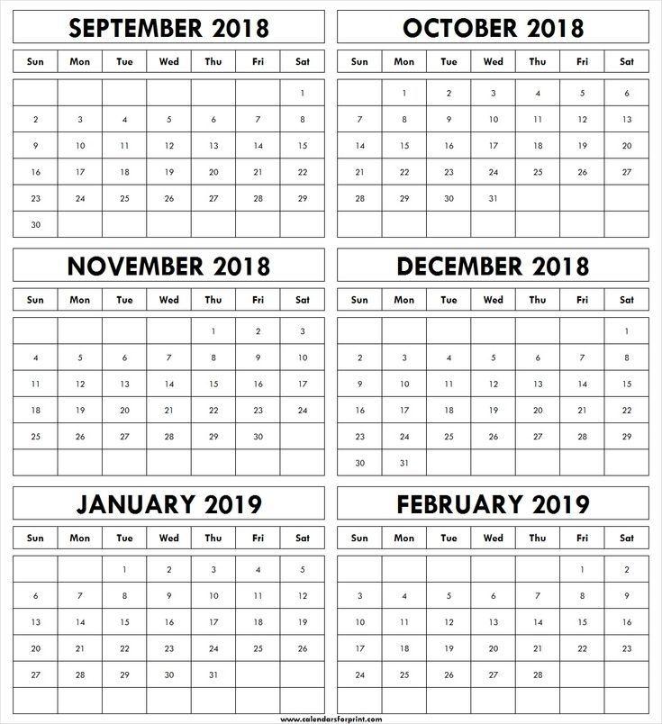 september october november december 2018 january february